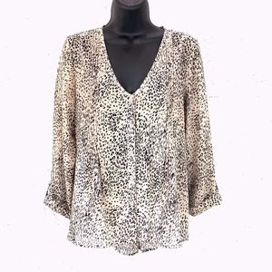 Pins And Needles Sz S Animal Print Button Blouse